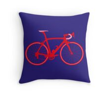 Bike Pop Art (Red & Pink) Throw Pillow