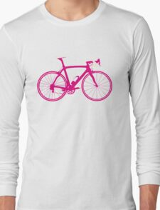 Bike Pop Art (Pink & White) Long Sleeve T-Shirt