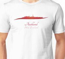 Auckland skyline in red Unisex T-Shirt