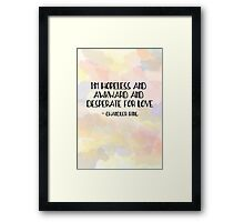 I'm hopeless and awkward and desperate for love-chandler bing quote friends tv show Framed Print