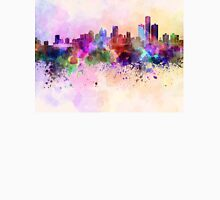Detroit skyline in watercolor background Unisex T-Shirt