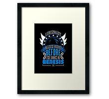 LEGENDARY GAMER (SONIC ORIGINAL COLORS) Framed Print