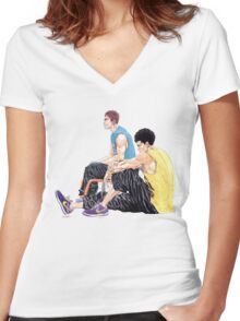 Real #04 Women's Fitted V-Neck T-Shirt