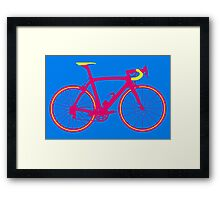 Bike Pop Art (Pink & Yellow) Framed Print