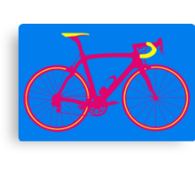 Bike Pop Art (Pink & Yellow) Canvas Print