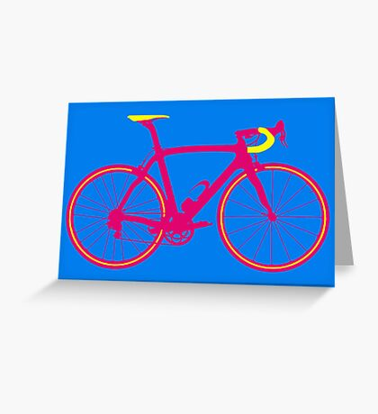 Bike Pop Art (Pink & Yellow) Greeting Card