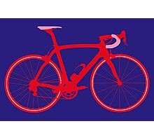 Bike Pop Art (Red & Pink) Photographic Print