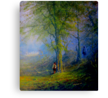 Frodo and The Wood Elves Canvas Print