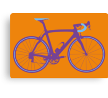 Bike Pop Art (Purple & Blue) Canvas Print