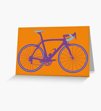 Bike Pop Art (Purple & Blue) Greeting Card