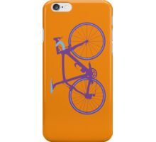Bike Pop Art (Purple & Blue) iPhone Case/Skin