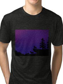 playful space wolves Tri-blend T-Shirt