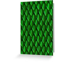 Scales of the Green Dragon Greeting Card