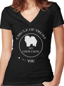 Funny Chow chow Dog Women's Fitted V-Neck T-Shirt