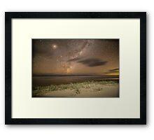 Double Island Point Milky Way Framed Print