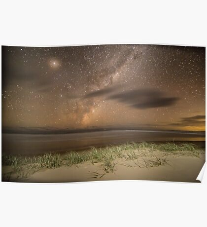 Double Island Point Milky Way Poster