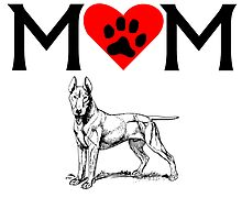 Bull Terrier Mom by kwg2200