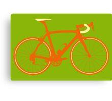 Bike Pop Art (Brown & Yellow) Canvas Print