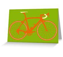 Bike Pop Art (Brown & Yellow) Greeting Card