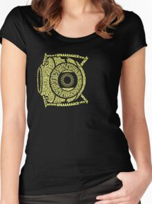 Space core: quote core Women's Fitted Scoop T-Shirt