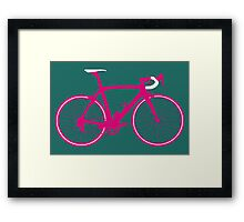 Bike Pop Art (Pink & White) Framed Print