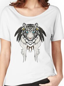 Tribal Tiger - White Women's Relaxed Fit T-Shirt