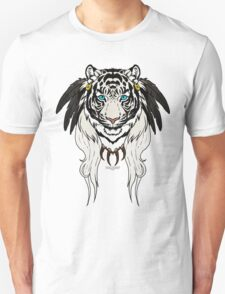 Tribal Tiger - White Unisex T-Shirt