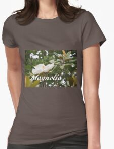 Magnolia, Tree Flower Photo Womens Fitted T-Shirt
