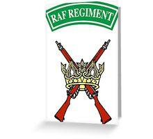 RAF Regiment Greeting Card