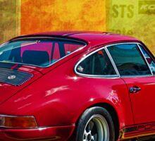 Red Porsche 911 Rear Sticker