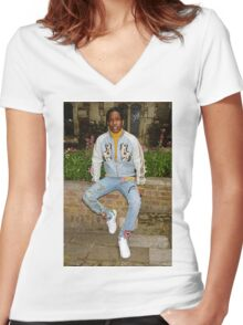 A$AP Rocky x GUCCI Women's Fitted V-Neck T-Shirt