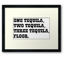 ONE TEQUILA, TWO TEQUILA, THREE TEQUILA, FLOOR. Framed Print