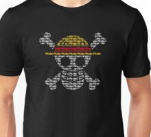 Pirate Text Luffy Pirate Flag Unisex T-Shirt