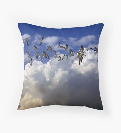 flight of the Skimmers.. Throw Pillow