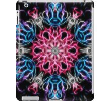 Galactic flame art, mandala, cosmic, space, neon, galaxy, nebula, fractal, artwork iPad Case/Skin