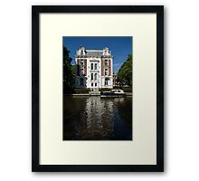 Amsterdam Canal Mansions - Bright White Symmetry  Framed Print