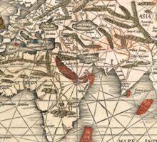 1513 World map by Martin Waldseemüller Sticker