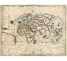 1513 World map by Martin Waldseemüller Photographic Print