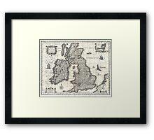 1631 Map of the British Isles by Joan Blaeu Framed Print