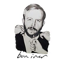 Justin Vernon/Bon Iver Drawing Photographic Print