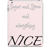 Sugar and Spice - pink iPad Case/Skin