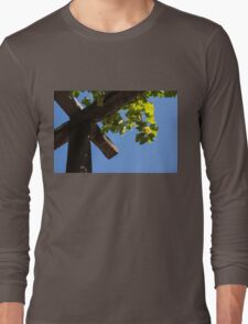 Blue Sky Grape Harvest - Thinking of Fine Wine Long Sleeve T-Shirt