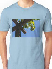 Blue Sky Grape Harvest - Thinking of Fine Wine Unisex T-Shirt