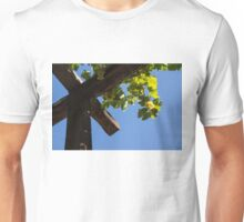 Blue Sky Grape Harvest - Thinking of Fine Wine Unisex T-Shirt