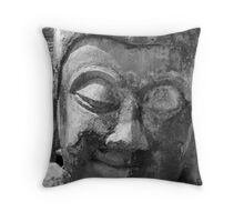 Buddha Head Throw Pillow