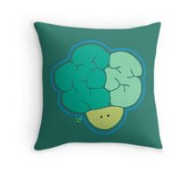 Broccoli Head Throw Pillow
