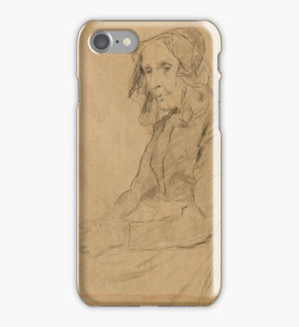 ANKER, ALBERT () Old woman with a book. iPhone Case/Skin
