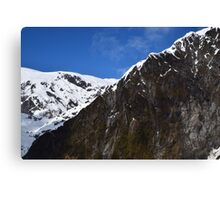 New Zealand Snow Covered Mountains Canvas Print