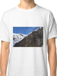 New Zealand Snow Covered Mountains Classic T-Shirt