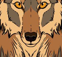 Tribal Coyote Sticker